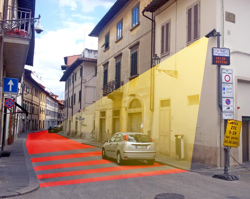 Foto transenna protezione civile